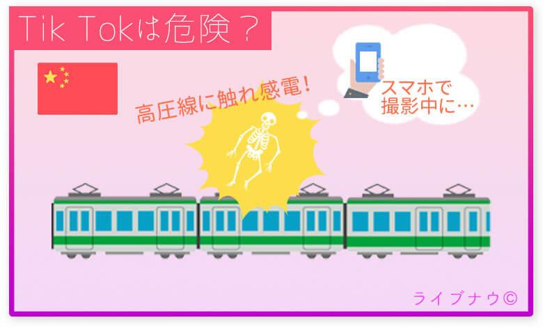 列車の上に乗った男性が高圧線に触れ死亡