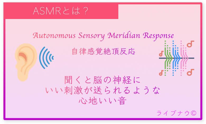 ASMR、自律感覚絶頂反応、心地いい音
