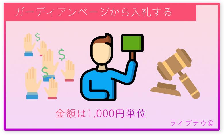 イチナナ 17Live ガーディアン メリット 入札 オークション 方法