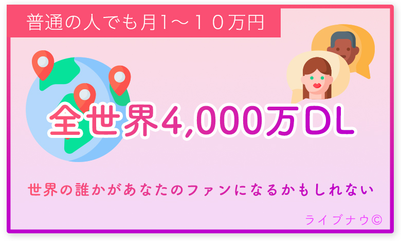 17Live イチナナライブ 収入 ギフト 全世界4000万