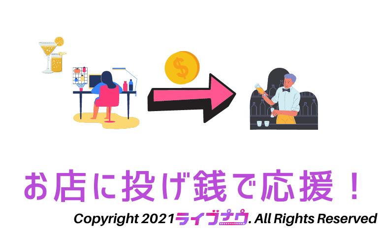 オンラインバー 料金 投げ銭